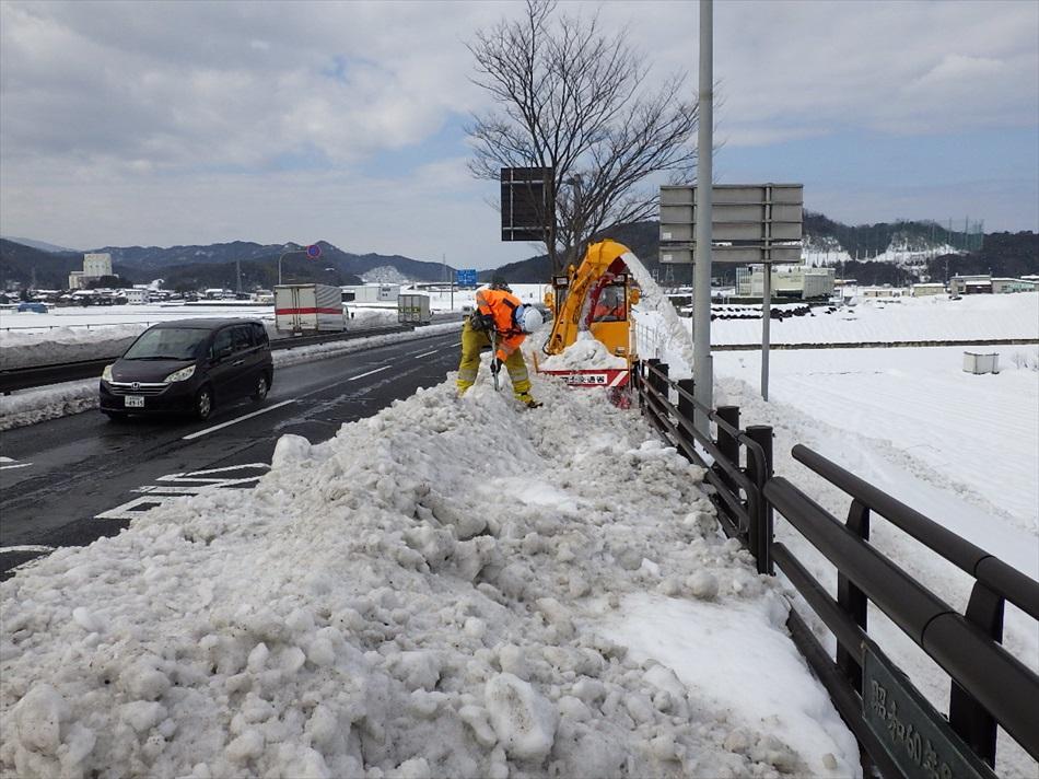 鳥取県雪害災害派遣20170215